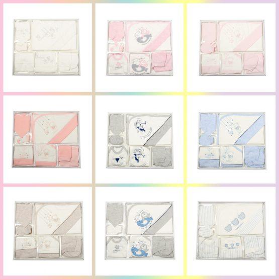 Set de 10 piese pentru bebeluși din bumbac antialergic