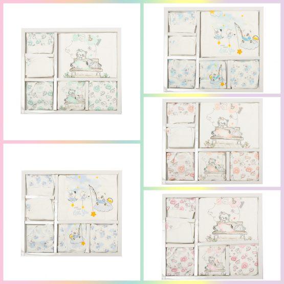 Set de bebelusi din bumbac cu 10 piese Leylek