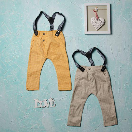 Pantaloni cu bretele de băieți (1-4 ani)