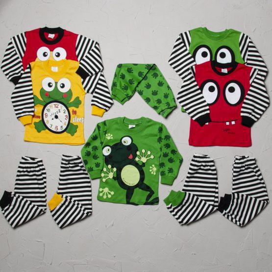 Pijama haioasă și colorată de copii (1-3 ani)
