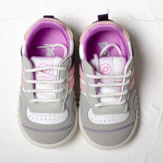 Pantofi sport de fete cu șiret Pappix ♥ Pink Stripes