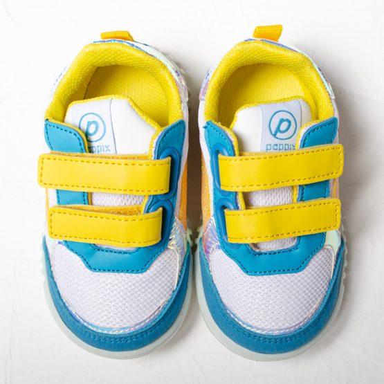 Adidași pentru copii Pappix ♥ Blue Yellow