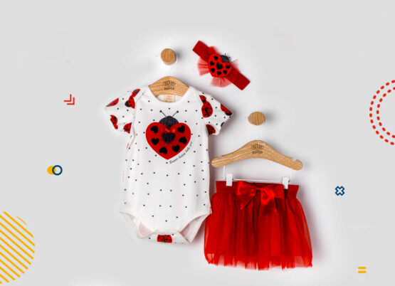Costumaș de fetițe cu body și fustiță -model gărgăriță ( 6-18 luni)
