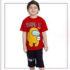 Costum de băieți cu tricou roșu și pantaloni scurți Among Us (6-10 ani)
