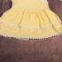 Rochiță galbenă cu tricou alb cu guler de bebe (3-12 luni)