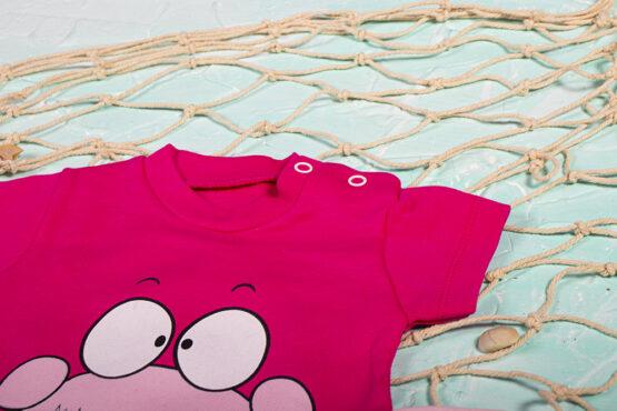 Salopetă haioasă de bebe pentru vară cu crab Cocomell (3-6-9 luni)