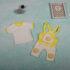 Set de bebeluși cu tricou și salopetă galbenă cu bretele Cocomell (3-6-9 luni)