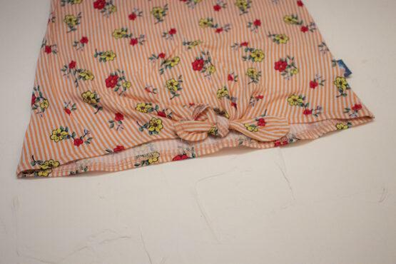 Costum de fetițe cu colanți și tricou în dungi cu floricele (9 luni-2 ani)